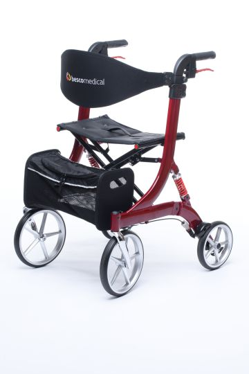 Rollator Spring Cross Country Rot