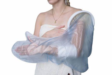 Duschschutz - ganzer Arm