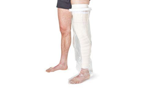 Duschschutz - ganzes Bein